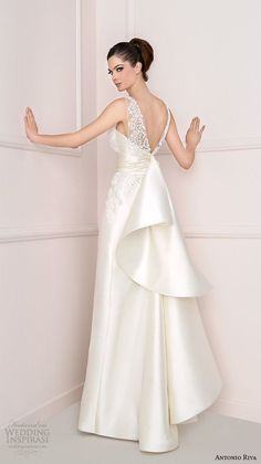 Antonio Riva 2016 ~ More beautiful wedding gowns added daily @ https://www.pinterest.com/tanja62287/white-wedding/