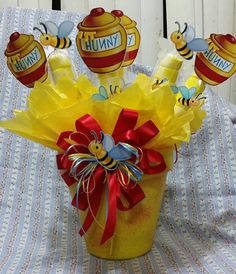 Extra Large Winnie the Pooh inspired Centerpiece with Marshmallows, Birthday…