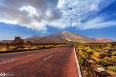 El Teide... - Road to El Teide, Tenerife Island Tenerife, Country Roads, Teneriffe