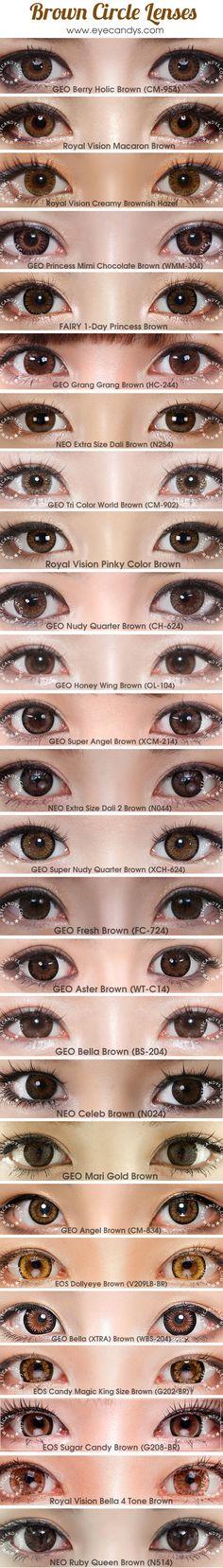 New hair color korean circle lenses Ideas - Modern Cosmetic Contact Lenses, Eye Contact Lenses, Coloured Contact Lenses, Makeup Black, Hair Color Asian, Ulzzang Makeup, Asian Eye Makeup, Asian Eyes, Circle Lenses