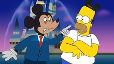 Homer Simpson in Disney World! Found Art, Walt Disney Company, Homer Simpson, The Simpsons, Spiderman, Mickey Mouse, Disney Characters, Fictional Characters, Family Guy