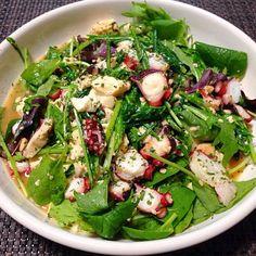 オリーブオイルで豆腐と蛸をサッと炒め葉っぱものと和えました! - 98件のもぐもぐ - 蛸のホットサラダ by jazzwine