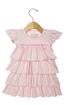 Bermuda pink Ruffle Dress - Baby Girls Layettes and Trendy Baby Girls Clothes by BabyKeba.com
