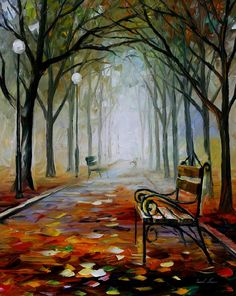 THE WAY TO THE FOG by Leonid Afremov