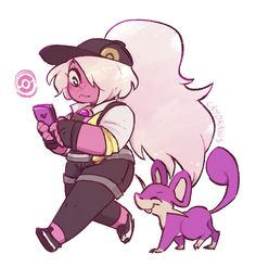 someone asked me to draw amethyst and also i cant stop playing pokemon go send help