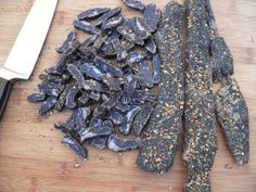 Easy recipe and directions for making healthy organic delicious biltong at home. How to make authentic South African tasting biltong and dry wors. Biltong, South African Recipes, How To Make Sausage, Easy Meals, Tasty, Meat, Healthy, Box, Sticks