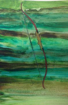 Watercolor, breadth, 7in x 10in