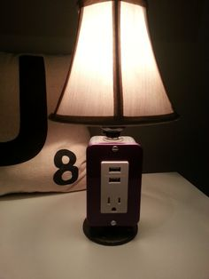 MINI Table or Desk lamp with USB charging station by BossLamps, $68.00