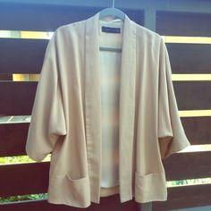 Zara Kimono Sleeve Jacket Soft and drapey jacket with kimono sleeves and tuxedo collars. Fully lined. Two pockets. Only worn a few times. Zara Jackets & Coats Blazers