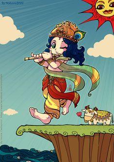 Krishna chibi by In-Sine.deviantart.com on @DeviantArt