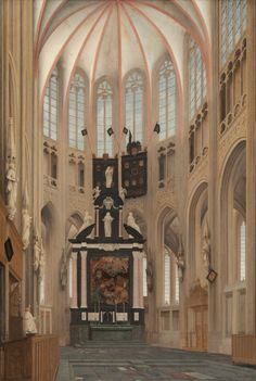 Pieter Saenredam, Interior of St John's Hertogenbosch 1646