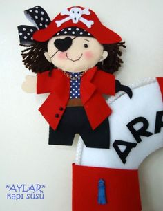 old 2011 model, felt pirate, baby car decoration