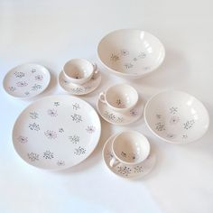Vintage Franciscan Echo Dish Set by RattyAndCatty on Etsy, $54.00