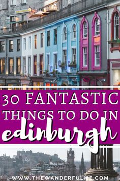 Ready to have the best time in Edinburgh, Scotland? Add these 30 fantastic things to your Edinburgh itinerary and bucket list! From the castle to Arthur's Seat, this is the ultimate list of the best things to do in Edinburgh. Visit Edinburgh, Edinburgh Castle, Edinburgh Scotland, Scotland Travel, Ireland Travel, Galway Ireland, Cork Ireland, Edinburgh Activities, Vacation Trips