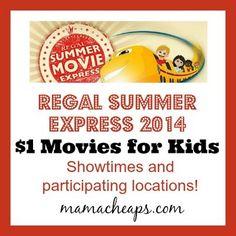2014 Regal Cinemas Summer Movie Express – $1 Movies