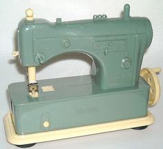 Vintage Necchi Supernova Green Plastic Toy Sewing Machine