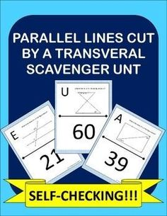 Parallel Lines Cut By A Transversal made fun! Instead of doing another ...
