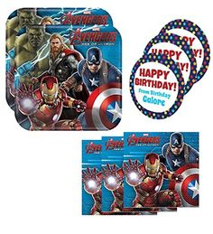 nice Avengers Age of Ultron Birthday Party Supplies Set Large Plates & Napkins Kit for 16 Plus Stickers Check more at http://partythemesforbirthday.com/product/avengers-age-of-ultron-birthday-party-supplies-set-large-plates-napkins-kit-for-16-plus-stickers/