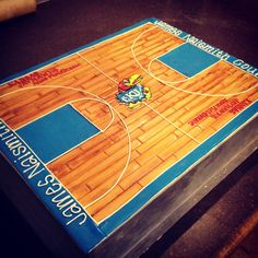 KU Basketball Court grooms cake   Cami's Cake Co. in Eudora, KS  www.facebook.com/camiscakeco