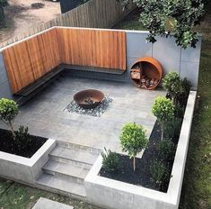 Top 50 Best Patio Firepit Ideas - Glowing Outdoor Space Designs Small Courtyard Gardens, Small Courtyards, Small Gardens, Outdoor Gardens, Fire Pit Backyard, Backyard Patio, Backyard Landscaping, Backyard Seating, Stone Backyard