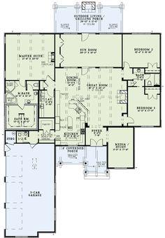 Nelson Design Group - Plan Details For NDG-1399, Total living: 3307 s.f.