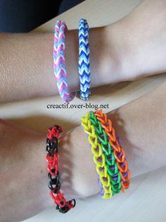 Des bracelets trop faciles à faire ....
