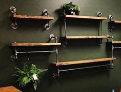Hang a Shelf Over a Door or Window for Display Items Wall Shelving Units, Office Shelving, Bar Shelves, Pipe Shelves, Metal Shelves, Open Shelving, Floating Shelves, Industrial Shelving, Industrial Style