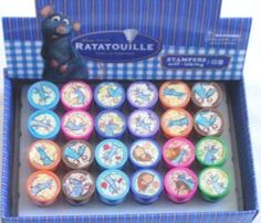 Lot 12 pcs Disney Pixar Ratatouille Self Inking Stamper