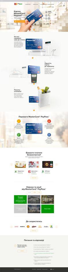 MasterCard PayPass Website on Behance