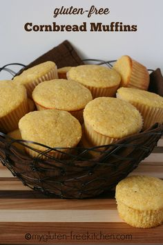 Gluten-free Cornbread Muffins - These classic, sweet cornbread muffins are perfect alongside any hearty meals, especially soups, stews, and chili!