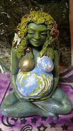 Gaia Statue Mother Earth Fertility Honor by HonoringMotherEarth