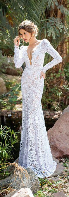 Sheath Wedding Dress by Julio Vino
