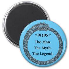 Customizable Magnet MAN MYTH LEGEND black/blue Daddys Boy, I Love My Dad, Custom Clothes, The Man, Magnets, Future, Blue, Art, Art Background