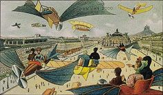 In 1910, a French illustrator named Villemard predicted what the year 2000 would be like