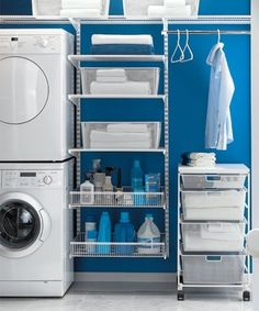 Organized Laundry Room | Smelly Laundry?  Washer Odor? | Never Run a Washer Cleaning Cycle Again!!! | Permanently Eliminate or Prevent Washer & Laundry Odor with Washer Fan™ Breeze™ | http://WasherFan.com | Installs in Seconds... No Tools or Special Skills Required!  #WasherOdor  #SWS  #Laundry