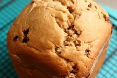 This banana chocolate chip bread machine recipe is so good! Toss in your ingredients, press the button and walk away! 2 hours later, fresh banana bread!