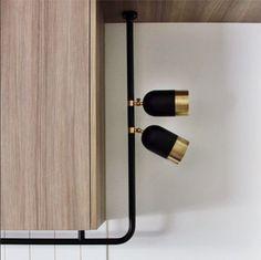 track lighting | black and brass light fittings | Wil & Co, by mim design - ... - http://centophobe.com/track-lighting-black-and-brass-light-fittings-wil-co-by-mim-design/ -