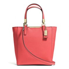 The Madison Mini North/south Tote In Saffiano Leather from Coach