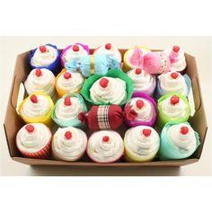 Cupcake di pannolini pampers baby dry personalizzabile con colore, taglia e la possibilità di aggiungere vari prodotti per l'infanzia