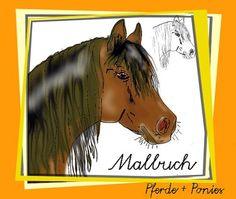 Malbuch Pferde + Ponies eBook  - Coloring book Horses + Ponies
