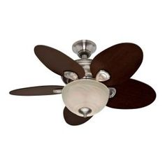 Hunter, Carmen 34 in. Brushed Nickel Ceiling Fan, 25815 at The Home Depot - Mobile