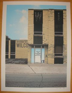 """Wilco silkscreen concert poster (click image for more detail) Artist: Crosshair Venue: Wellmont Theatre Location: Montclair, NJ Concert Date: 4/2-3/2010 Size: 17 1/2"""" x 23"""" Edition: 350, signed and nu"""