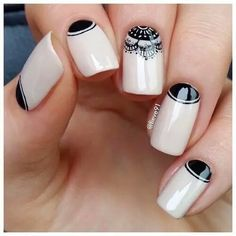 80 Winter Black And White Nail Art Designs - Box Fashions Nail Art Designs 2016, White Nail Designs, Cool Nail Designs, Pretty Designs, Black And White Nail Art, White Nails, White Manicure, Black White, Crazy Nails