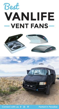 Best RV Roof Vent Fan For Van Life Solid breakdown of vent fans for your next van build. This will give a lot of ventilation against condensation and moisture in the winter and keep the camper cool in the hot summer. I can't wait to start the via Sprinter Camper, Motorhome, Camping Vans, Vw Lt, Kombi Home, Caravan Renovation, Camper Van Conversion Diy, Van Conversion Fan, Combi Vw