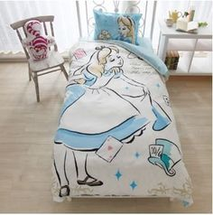 Elegant Water Color Inspired Disney Bedding Fit for a Princess Disney bedrooms aren't hard to come by, but sometimes they can be a little too cartoony and that doesn't fit everyone's style. These gorgeous Water Color Disney Princess Bedding, Disney Bedding, Princess Disney, Disney Disney, Cute Bedding, Bedding Sets, Alice In Wonderland Bedding, Disney Bedrooms, Disney Home Decor