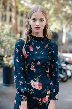 The epitome of dashing glamor, light dresses meet floral prints this season for a beautifully vintage take on spring. The perfect combination of red, turquoise, light green, pink, and zesty orange, see how to wear them here.