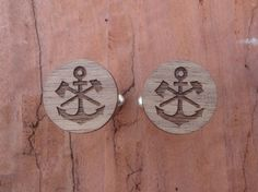 Anchor Cufflinks Father's Day Gift by BezalelArtShop on Etsy