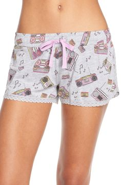 COZY ZOE Print Jersey Sleep Shorts