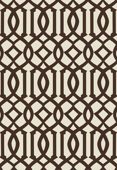 Wallcovering / Wallpaper | Imperial Trellis II in Java / Cream | Schumacher