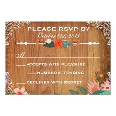 Shop Floral Succulents Rustic Wedding rsvp created by oddlotpaperie. Shabby Chic Wedding Invitations, Succulent Wedding Invitations, Custom Invitations, Invites, Wedding Rsvp, Rustic Wedding, Bright Flowers, Floral Invitation, Flourish